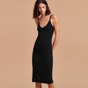 NWT Aritzia Wilfred Free Gitte Dress in Black